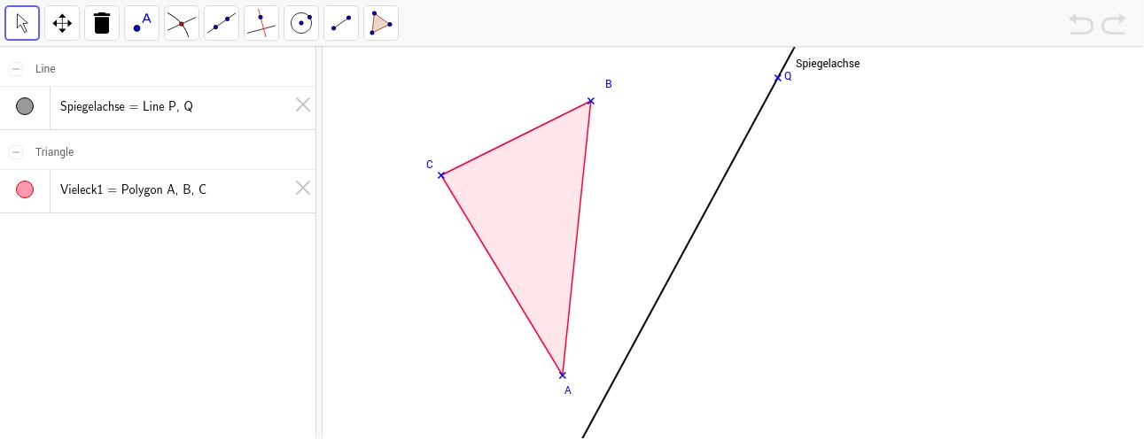 Spiegelung eines Dreiecks von Hand durchführen - GeoGebraTube