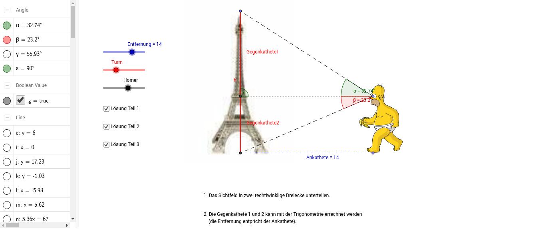 Beste Arbeitsblatt Mit Trigonometrischen Verhältnisse Wort Probleme ...