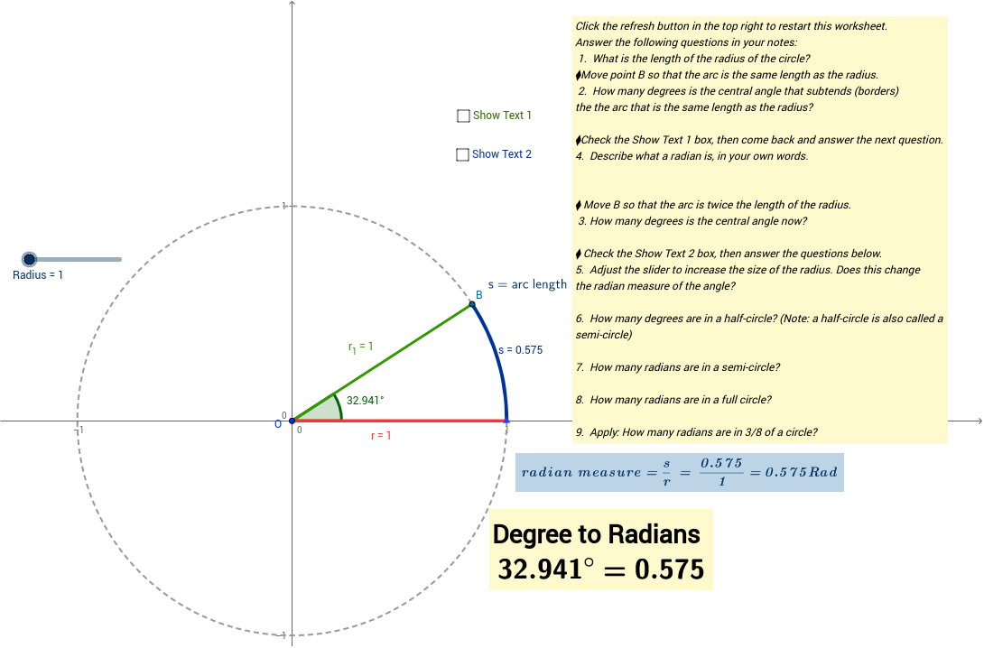 Convert from degrees to radians online dating