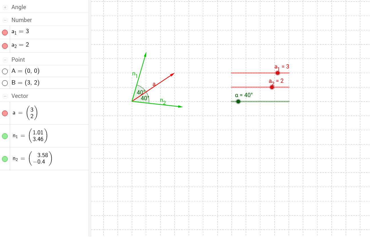 Ermitteln von Normalvektoren im R² - GeoGebraTube