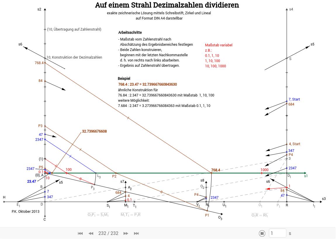 Konstruktionen mit Zirkel und Lineal (exakte Ergebnisse) - GeoGebraBook