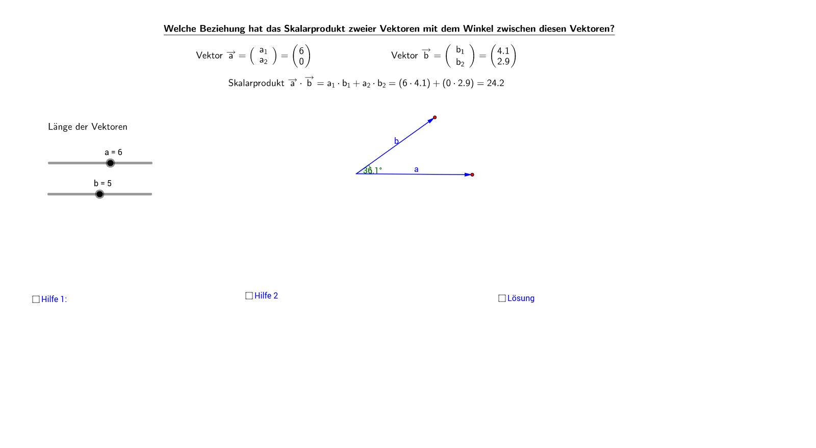 vektoren - geogebrabook