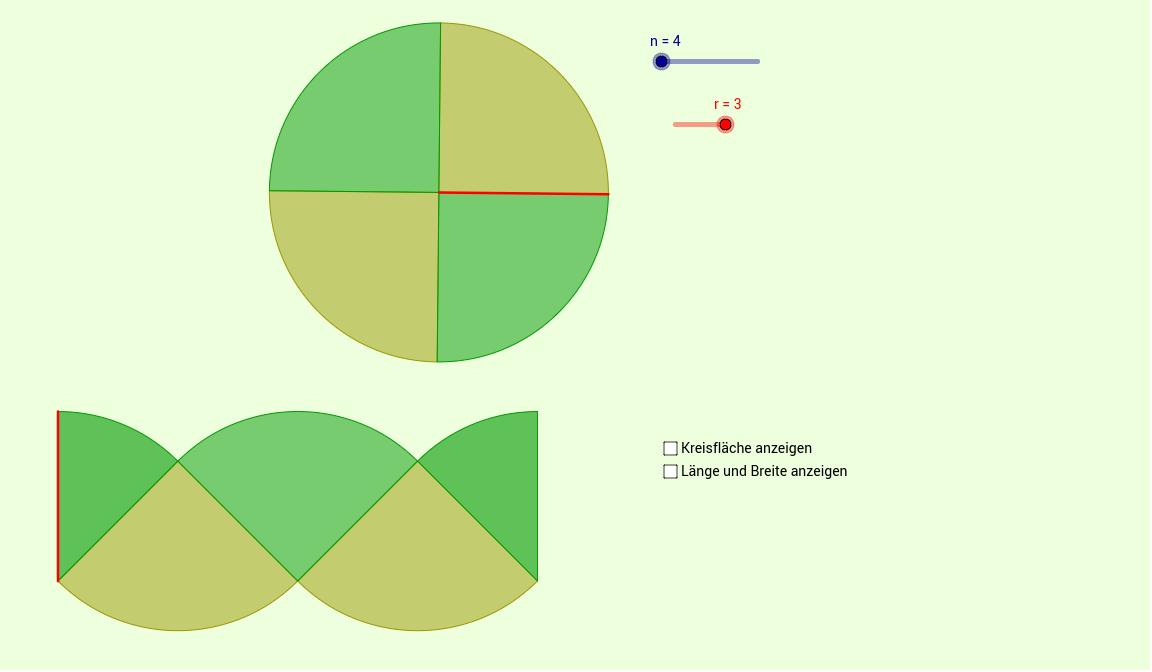 Kreisfläche   Formel II