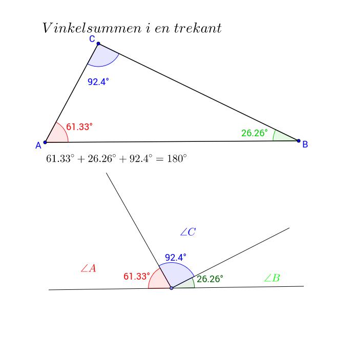 trekant 180 grader