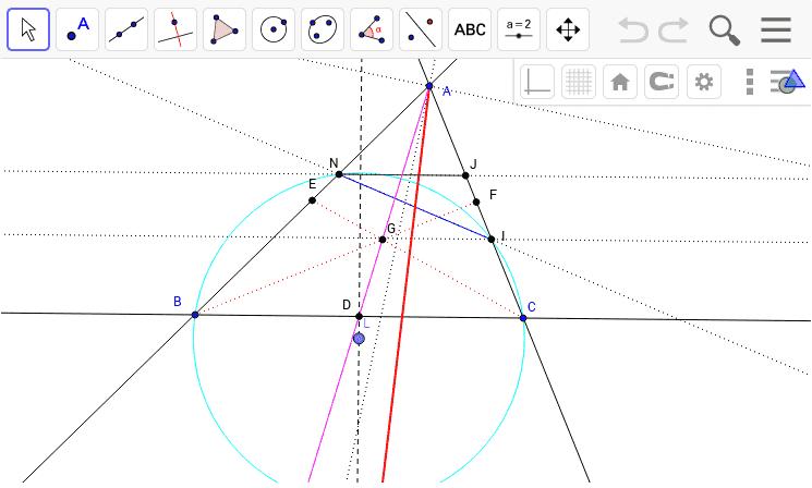 類似中線の性質 - GeoGebraTube